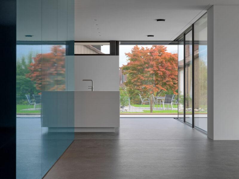 Einfamilienhaus, Farbkonzept, Innenraum, Materialien