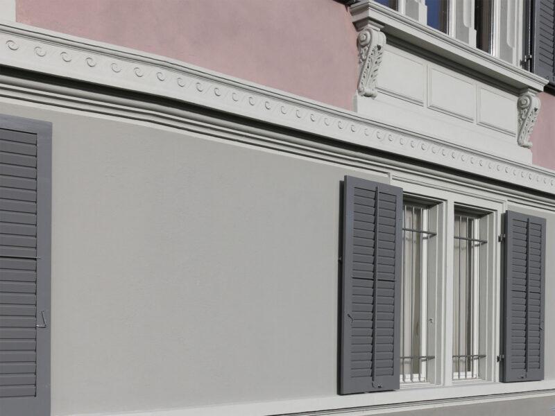 Farbkonzept, Chamhaus, Fassade