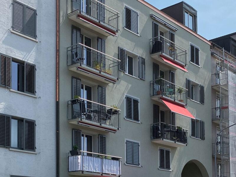 Farbkonzept, Fassade, jungholzstrasse, Zürich