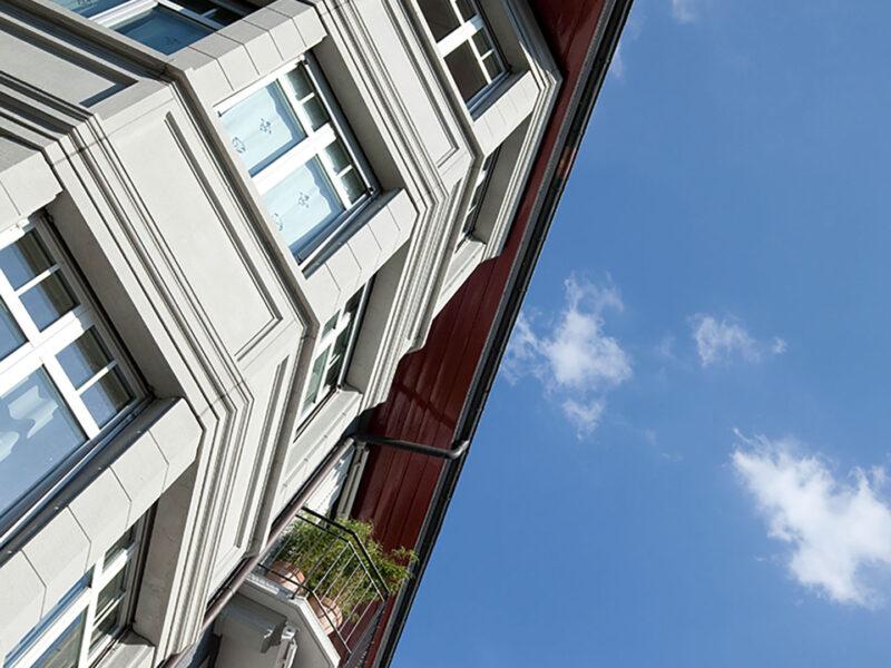 Farbkonzept, kinkelstrasse, Fassade