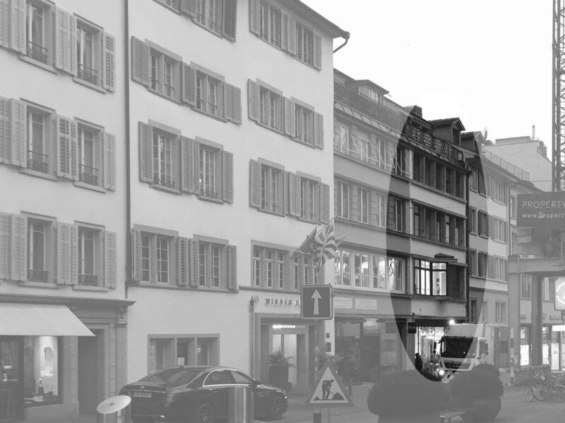 Farbkonzept, Fassade, rennweg, Zürich