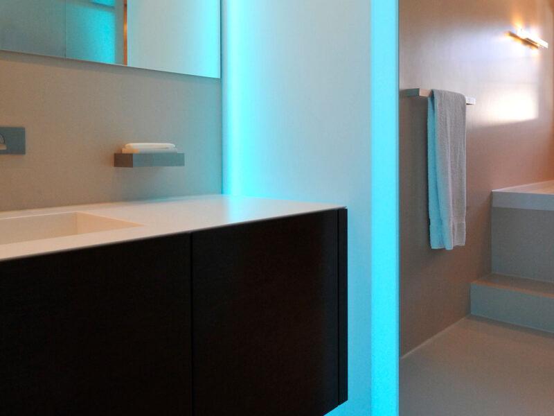 Farbkonzept, Materialkonzept, Einfamilienhaus